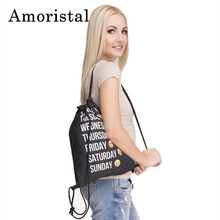 Drawstring Bag Fashion Women Emoji Backpack 3D Printing Beach Fitness Sport Travel Softback Mens Backpacks Unisex
