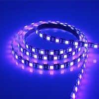 5 M SMD 2835 3528 5050 Nero Bianco PCB UV Viola LED luce di striscia di CC 12 V 60 Leds/m 120 Leds/m Raggio Ultravioletto LED Nastro Ribbon lampada