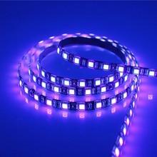 5 m smd 2835 3528 5050 preto branco pwb uv roxo conduziu a luz de tira dc 12 v 60 leds/m 120 leds/m ultravioleta ray fita led lâmpada