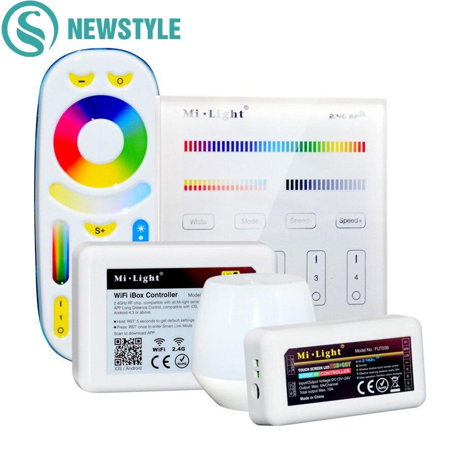 Mi Licht RGBWW Volle Farbe LED Controller RF 2,4g Wifi Fernbedienung DC12-24V Touch Panel LED Controller Für RGB CCT LED Streifen