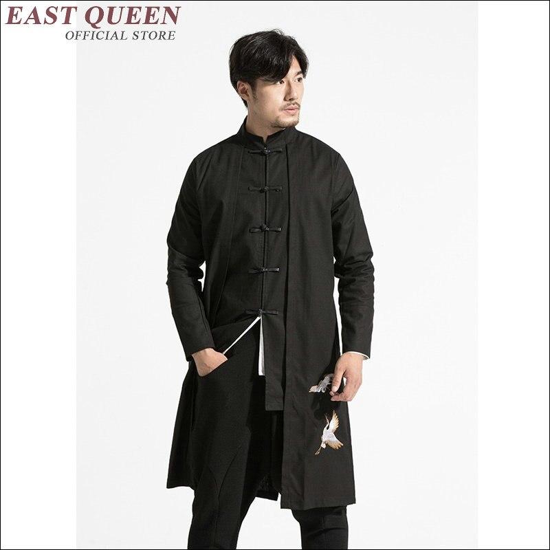 Vestuário masculino 2018 ternos de linho masculino gola mandarim terno wing chun vestuário tradicional chinês para homem aa1636z