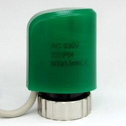 NC нормально закрытый цифровой тепловой электрический привод для коллектора в напольном покрытии система отопления часть 230V комната Лучист...