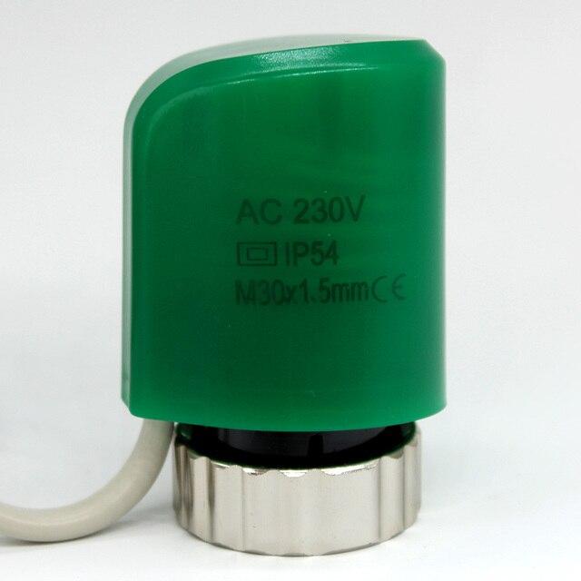 NC нормально закрытый цифровой Термальность электрический привод для коллектор в пол полы Система нагрева часть 230 В номер лучистого