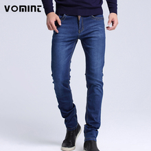 2017 Mens jeans New Fashion Men Casual Jeans Slim Straight High Elasticity Feet Jeans Loose Waist Long Trousers hot sell S6CJ064(China)
