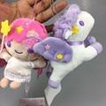 [SGDOLL] мультфильм Little Twin Stars Лала Розовый Единорог Мини Плюшевые Игрушки Кукла Брелок Сумка Подвески Коллекция Подарков 16102012