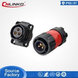 Cnlinko M20 plastikowe okrągłe złącze męskie i żeńskie sygnał mocy wodoodporne złącze Led oświetlenie LED złącze wyświetlacza w Złącza od Lampy i oświetlenie na