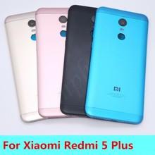 Novo para xiaomi redmi 5 plus (mee7) peças de reposição voltar bateria capa porta + botões laterais câmera flash lente substituição