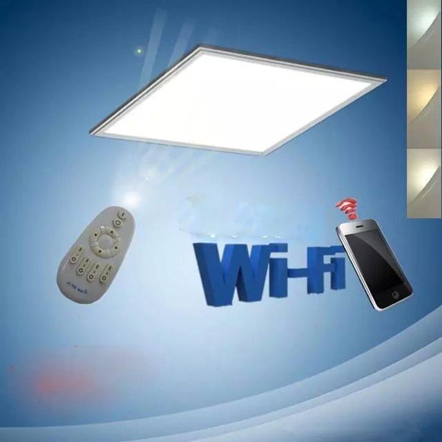 цена Free Shipping WIFI Smart Phone Control 600x600mm Dimmable& Color Changeable LED Panel Light Aluminum Alloy+PMMA Material онлайн в 2017 году