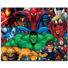 5D diamond embroidery full Square/Round painting Cross stitch Super heros mosaic Rhinestones 609B