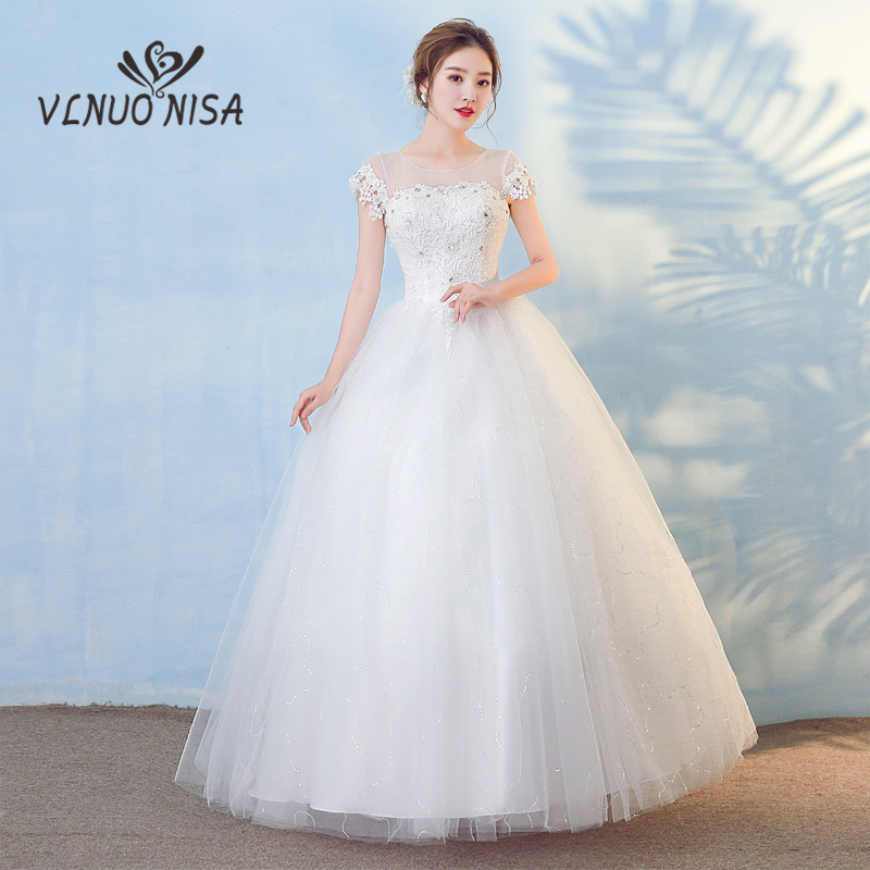 New Fashion Simple Lace Wedding Dress With Elegant