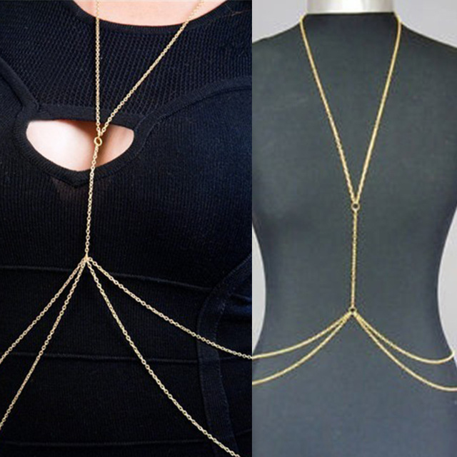 Gold Snake Chain Naked Body Jewelry