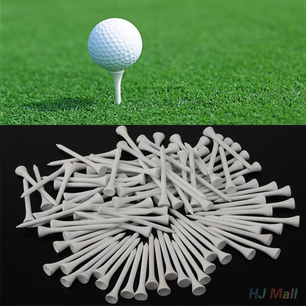 100 יח'\אריזה 70mm עץ גולף טיז גולף עץ טיז גולף כדור עץ טי טיז עץ גולף אביזרי Outdoos ספורט אבזרים
