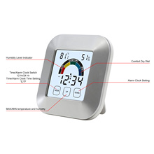 Thermometer Digital Humidity Touchscreen Back Light Timer Digital Display Clock