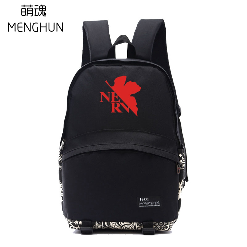 551ac01b66 NEON GENESIS EVANGELION EVA backpack black daily wear school bag ...