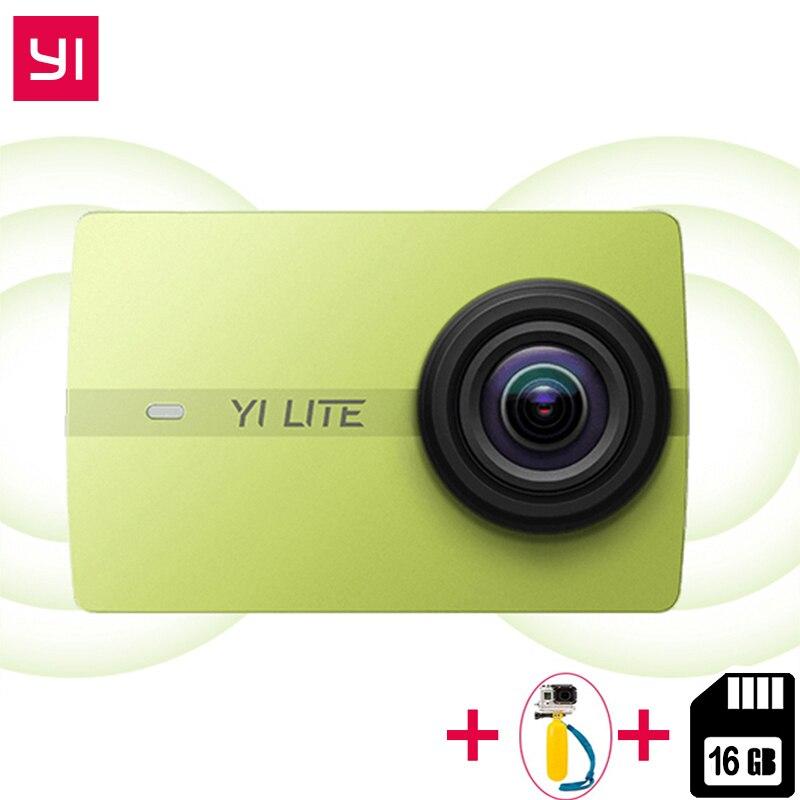 D'origine Xiaomi YI Lite caméra d'action Réel 4 K Sport Cam Bluetooth 16MP EIS WIFI 2 écran tactile 150 Degré Objectif + 16 GB SD Carte