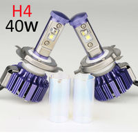 H4 LED Headlight Pair Plug Play Car Conversion Kit With Cree Chip High Low Beam Auto