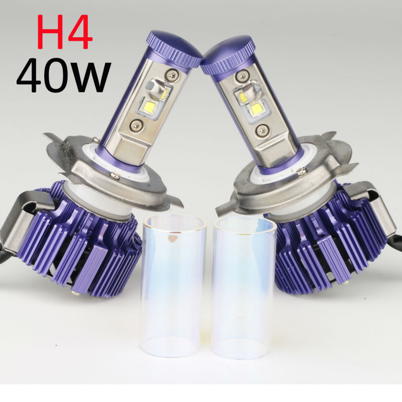 H4 LED Headlight Pair Plug&Play Car Conversion Kit with Cree chip High Low Beam Auto Headlamp 80W 6000K 9200LM 12V A Pair