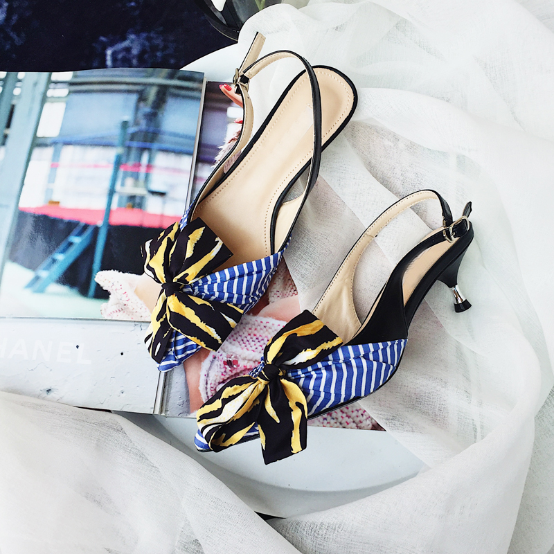 Sapato feminino blue silk bow-knot summer pumps women shoes wedding shoes bride med strappy heels runway designer slingback strappy open shoulder knot blouse