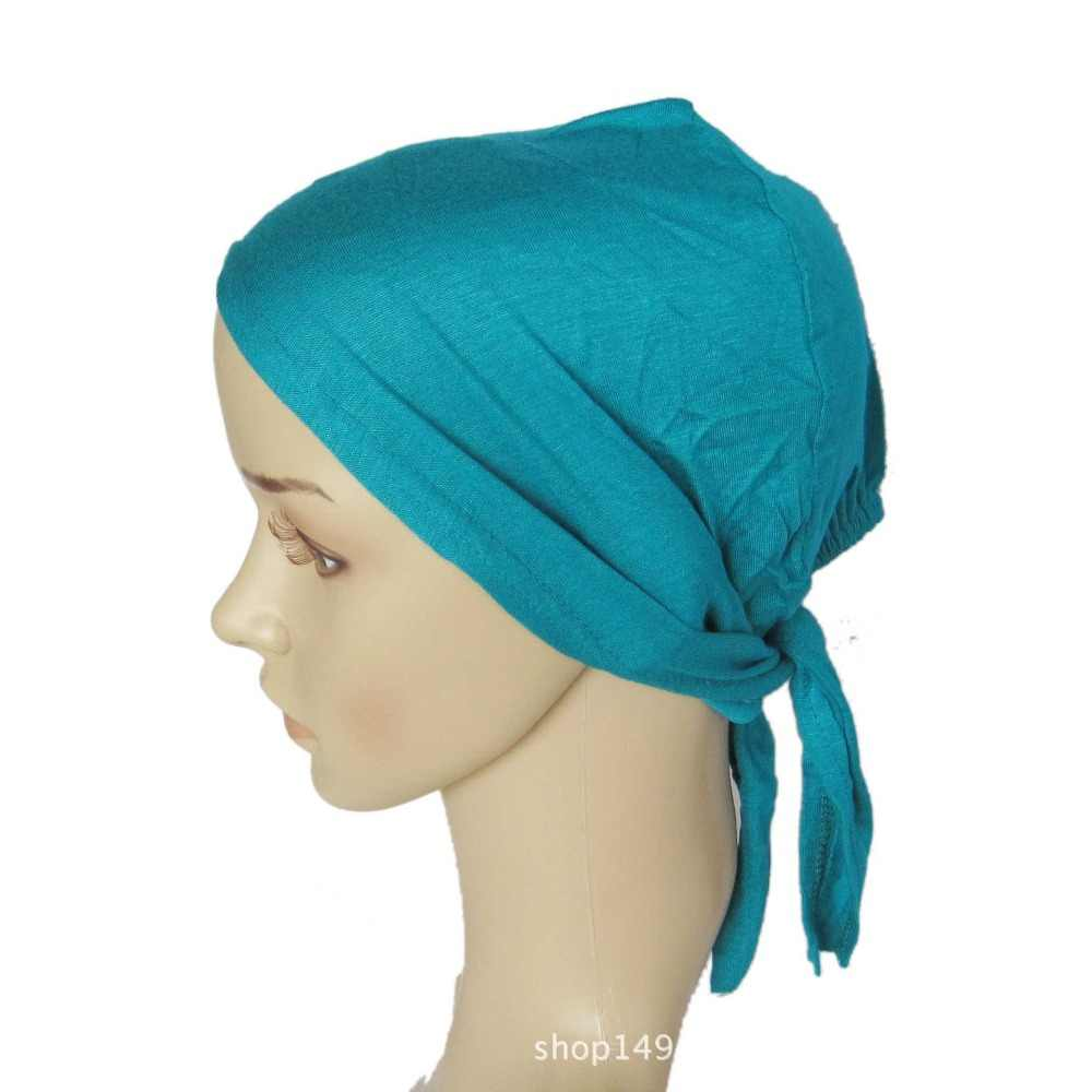 7f772eaf2ab Full Cover Inner Muslim Cotton Hijab Cap Islamic Head Wear Hat Underscarf  Bone Bonnet Turkish Scarves