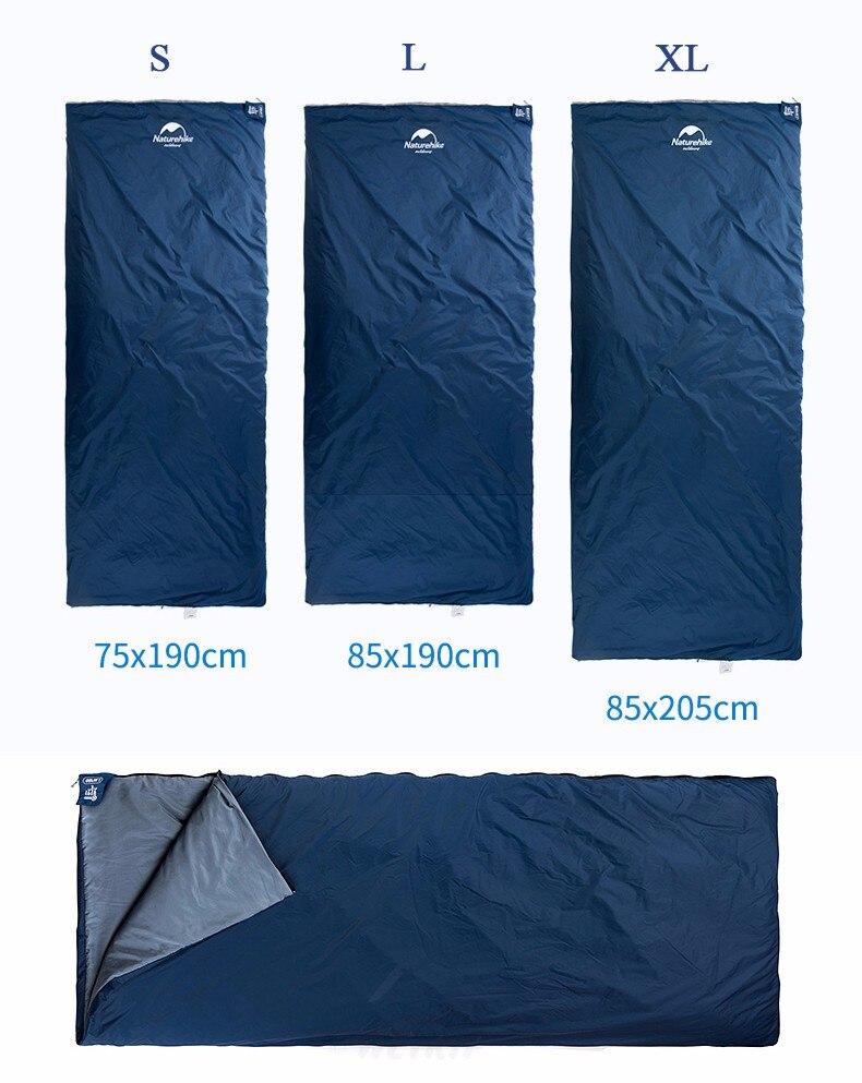 Naturehike sacos de dormir acampamento ao ar