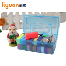 Liyuan Polymer Clay Oven-Baked Colorful Modelling Moulding Clay Fimo 24 Blocks 350g Gift Box