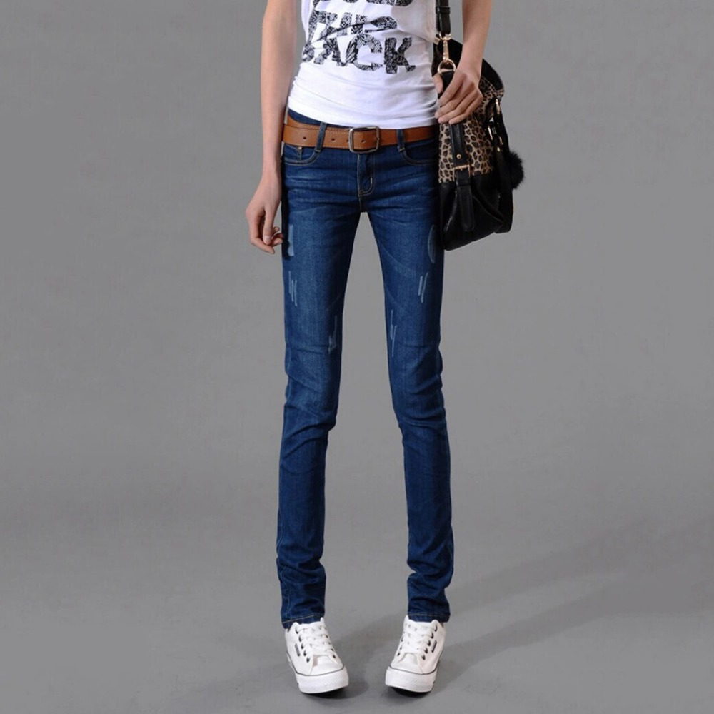 Tengo New Fashion Women Jeans Elastic High Waist Stretch Vintage Casual Jeans Femme Skinny Slim Pencil Pants Sexy Trousers