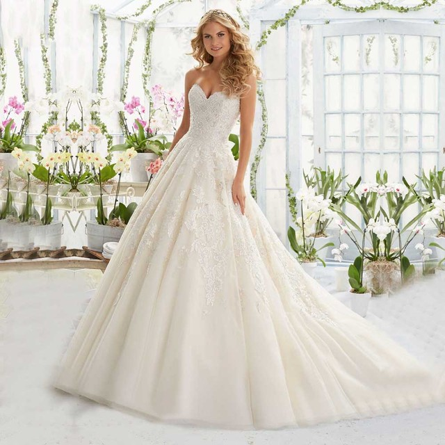2017 Hot Sale Princess Bridal Gowns A line Soft Tulle Low Back ...