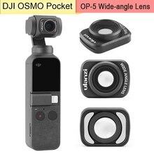 Lentes magnéticas hd para câmera dji osmo, lentes com ângulo amplo, profissional, com caixa de carcaça