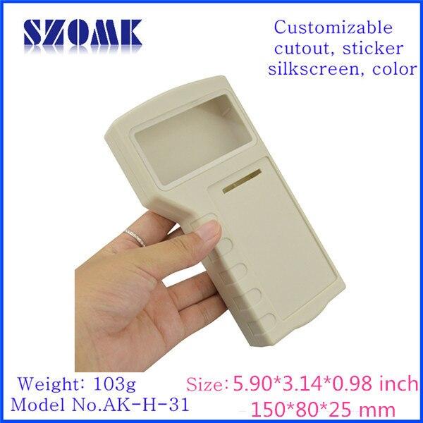 Szomk новое прибытие 4 х АА батареи пластиковый корпус ручной (4 шт.) 155*80*25 мм абс-пластик инструмент проект коробка
