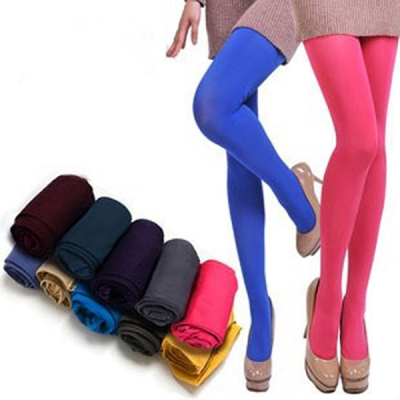 New Arrival Women Candy Color Stockings Spring Summer Stretch Tights Sexy Hosiery Female Pantyhose Seamless Stockings(China)