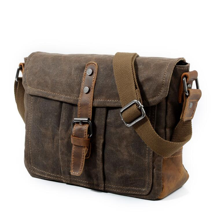 2018 new Canvas Leather Crossbody Bag Men Military Army Vintage Messenger Bags Large Shoulder Bag Travel Bags augur canvas leather men messenger bags military vintage tote briefcase satchel crossbody bags women school travel shoulder bags