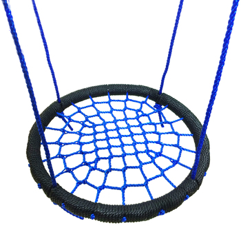 LK101 Outdoor Sports Mesh Hammocks Steel Wrapped with Braided Rope Round Swing for Children 60cm Bird's Nest Swing