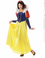 free shipping Snow White Deluxe Princess Fairy Tale Fancy Dress Party Costume PLUS size small to 4xl