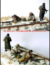 [tuskmodel] 1 35 scale resin model figures kits soviet guerrillas(China)