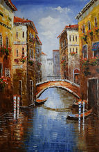 Home decor painting oil on canvas Hand painted Europe Italy Venice Landscape Classical wall art picture Abstract Paintings