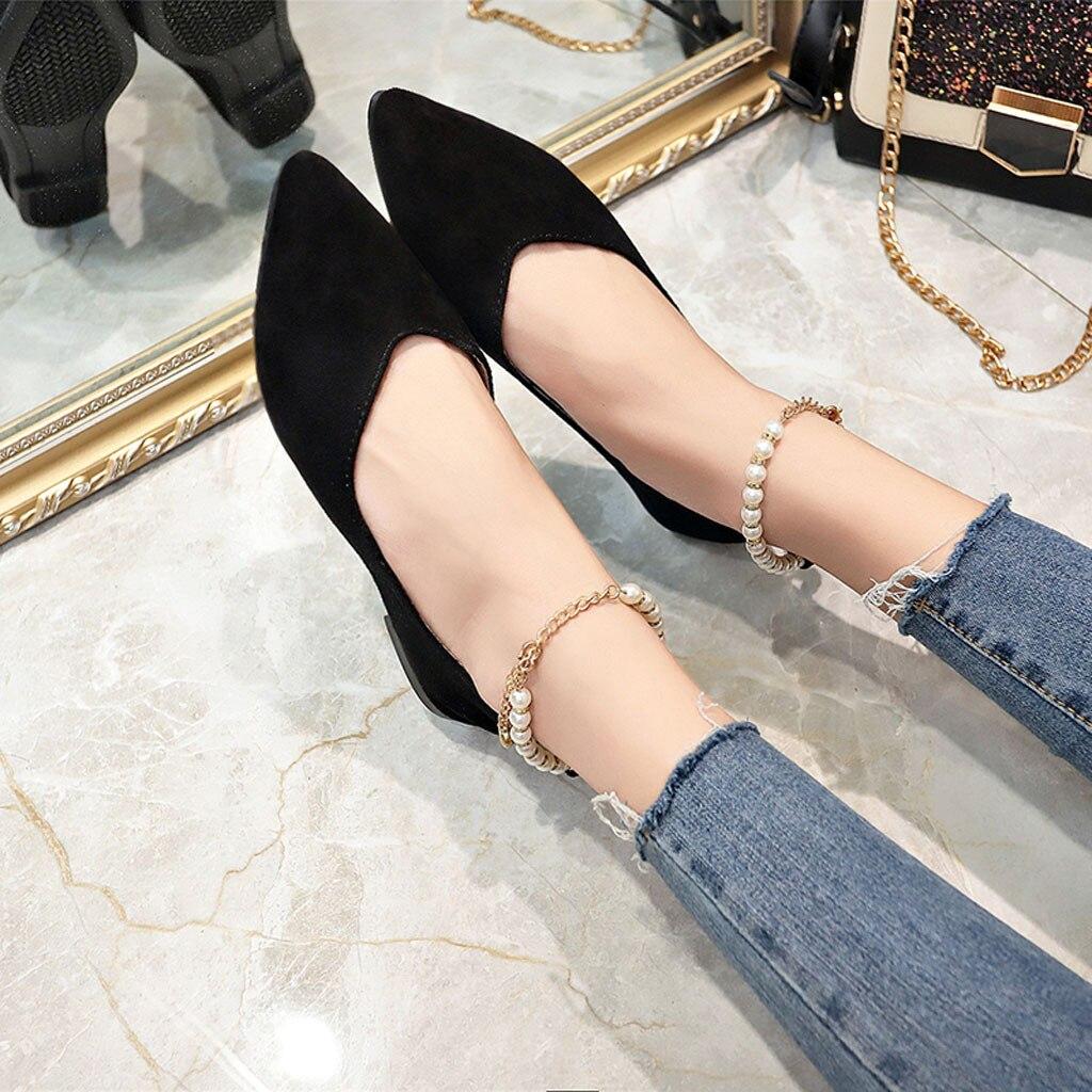 100% Wahr Youyedian 2019 Frühling Damen Flache Schuhe Perlen String Bead Casual Frauen Schuhe Weibliche Flache Boot Schuhe Chaussures Femme