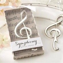 """1 шт. уникальные свадебные сувениры """"Симфония"""" хром нот открывалка для бутылок свадебный подарок"""
