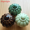 3pcs 34mm Kitchen Cabinet Drawer Knobs Rustic Ceramic Knobs Wardrobe Porcelain Handles Kids Bedroom Cupboard Knobs Dresser Pulls