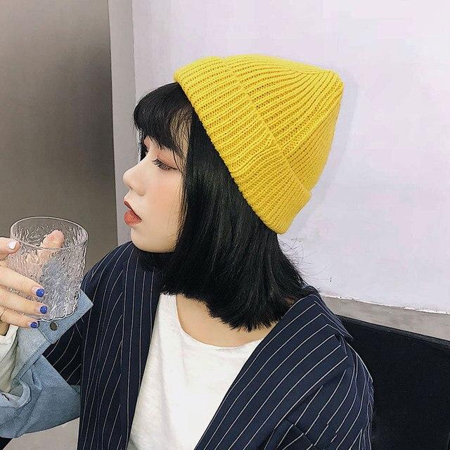 Winter Beanie Hats For Women Men Solid Beanies Fashion Warm Cap Unisex Knit  2018 Fashion Men Women Black Yellow Warm Hat Gorro 5ad911c87c9