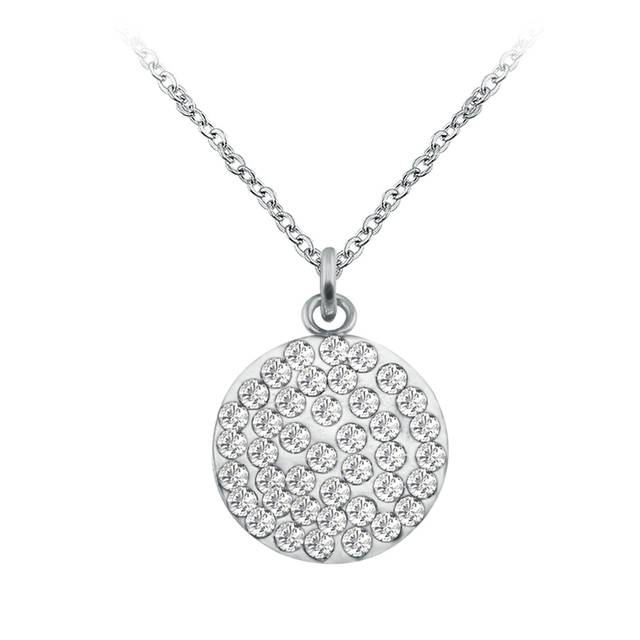 Crystal pendant necklace gold silver stainless steel necklace for crystal pendant necklace gold silver stainless steel necklace for women necklaces pendants tumblr bisuteria mujer mozeypictures Choice Image