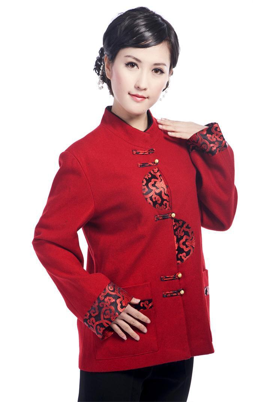 Moda china clothing ladies capa de la chaqueta chaqueta de lana de las mujeres p