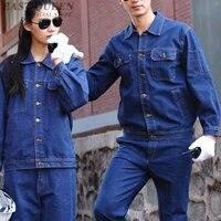 Working coveralls mens workwear mechanic uniforms workshop engineering mechanic work clothes DD1218
