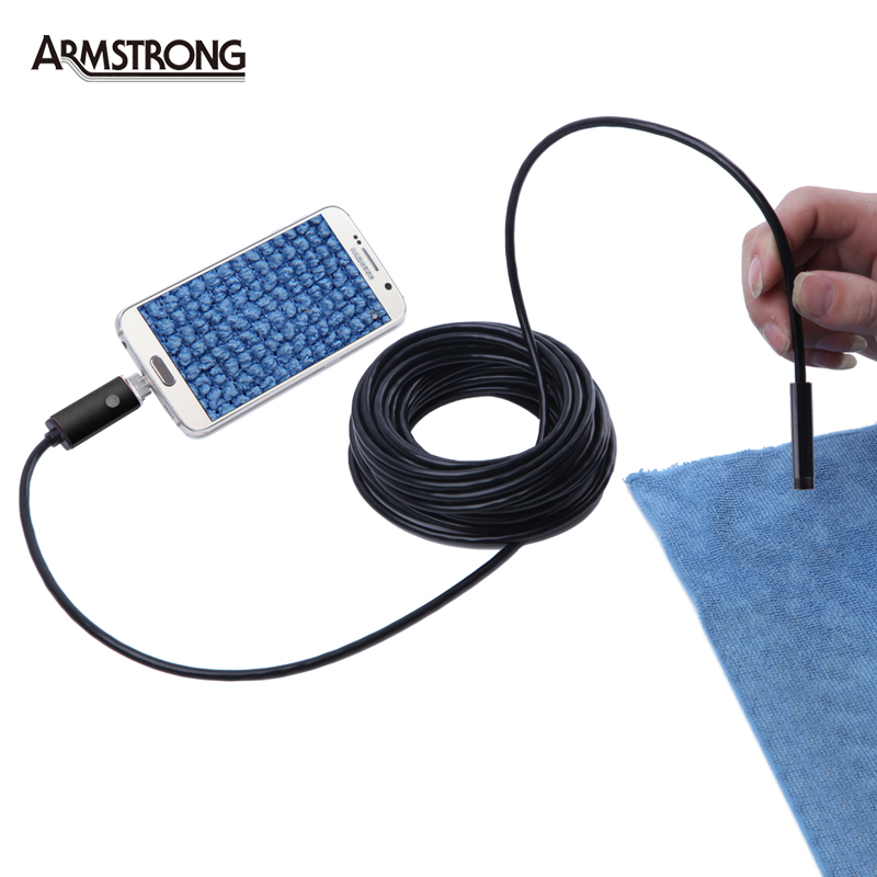 Newest 8MM Lens HD Inspection Snake Camera Endoscope USB Android Endoscope Mini Waterproof Camera Endoscopio Android