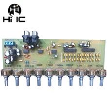 Placa de controle de equalização, placa de controle de volume e amplificador hifi