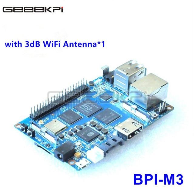 Original Banana Pi M3 A83T Octa-Core (8-core) 2GB RAM BPI-M3 with WiFi & Bluetooth 4.0 Open-source demo board