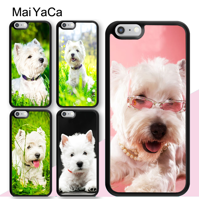 Fitted Cases Maiyaca Miniature Schnauzer Puppy Dog With Glass Phone Case Cover For Iphone 5 5s 6 6s 7 8 Plus X Soft Case For Samsung S7 Edge