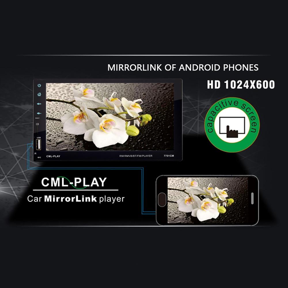 Podofo 2 din Car radio 7 inch DVR Mirror link Autoradio Bluetooth MP5/FM multimedia stereo player 2DIN AUX/USB Auto adio Camera