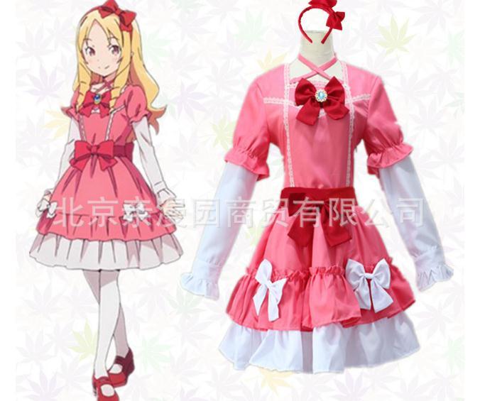 Home Frank Japanese New Anime Eromanga Sensei Cosplay Costume Ero Manga Sensei Yamada Elf Straps Lolita Gothic Bbow Dresses Costume