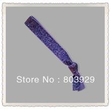 "5/8 ""Elastic Lavender Glitter Cabelo Ribbon Ties"