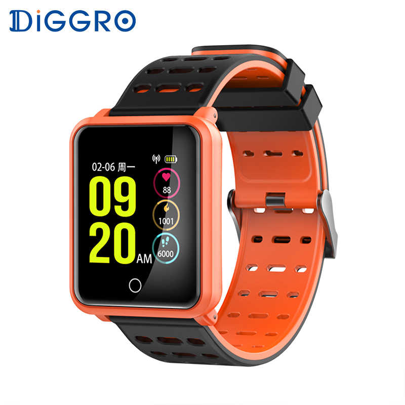 Diggro N88 Smart Watch IP68 Waterproof Color Screen Heart Rate Blood Pressure Monitor Replaceable Bracelet For Android IOS